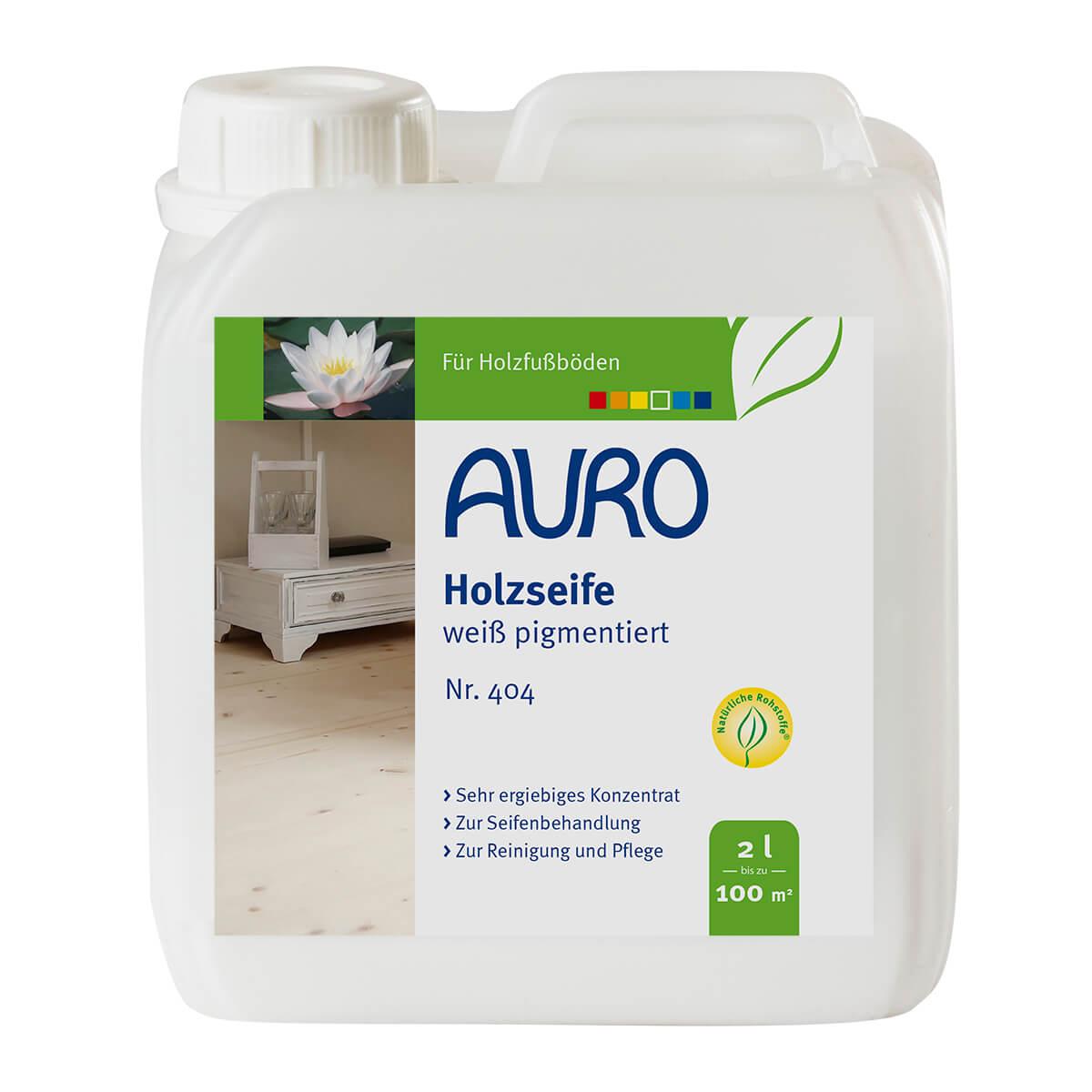 AURO Holzseife-Weiß pigmentiert Nr. 404 - 2 L