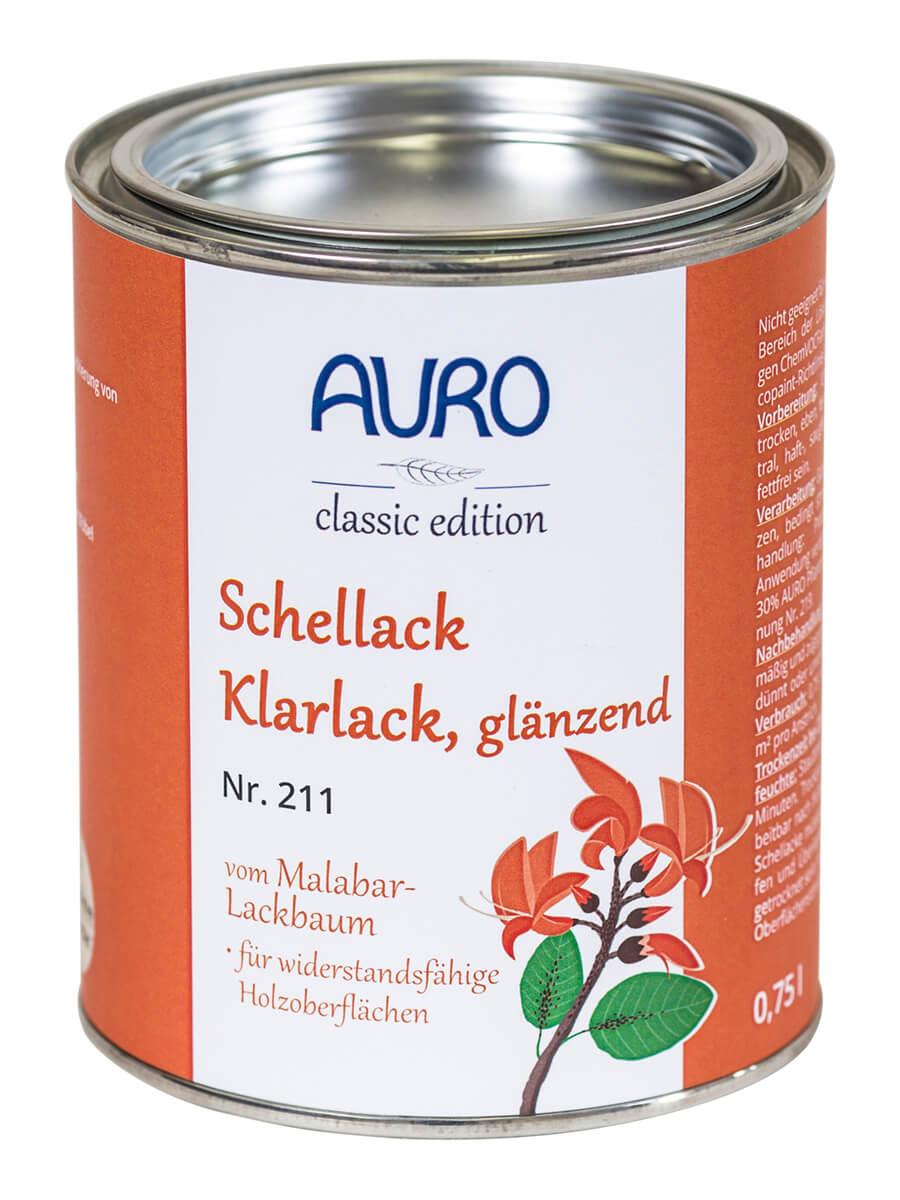 AURO Schellack-Klarlack glänzend Nr. 211 - 0,75 L