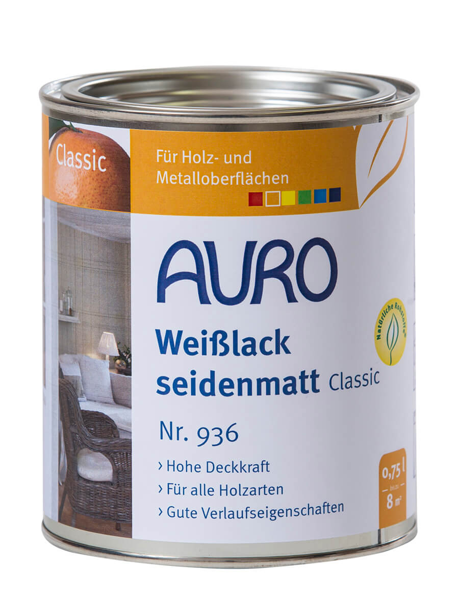 AURO Weißlack, seidenmatt, Classic Nr. 936